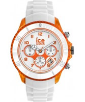 Buy Ice-Watch Mens White and Orange Ice-Party Big Big Watch online