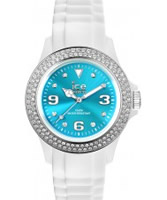 Buy Ice-Watch Ladies Blue and White Ice-Star Silicone Watch online