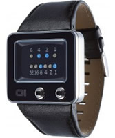 Buy 01 THE ONE Mens TV Black Leather Strap Watch online