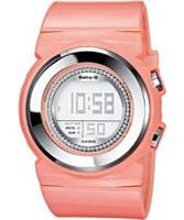 Buy Casio Ladies Baby-G Stone Set Pastel Orange Watch online