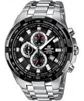 Buy Casio Mens Edifice Black Silver Watch online