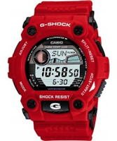 Buy Casio Mens G-Shock Red Digital Watch online