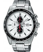 Buy Casio Mens Edifice White Steel Black Watch online