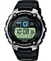 Buy Casio Mens All Black Digital Watch online