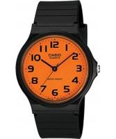 Buy Casio Mens Orange Dial Black Resin Strap Watch online