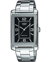 Buy Casio Mens Black Silver Watch online