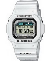 Buy Casio Mens G-Lide Surf White G Shock Watch online