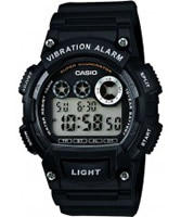 Buy Casio Mens Dual Time Black Resin Strap Watch online