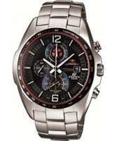 Buy Casio Mens Edifice Black and Silver Steel Bracelet Watch online