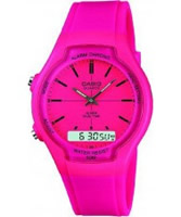 Buy Casio Dual Time Chronograph Pink Watch online