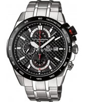 Buy Casio Mens Edifice Black Steel Watch online
