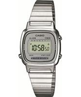 Buy Casio Ladies Silver Retro Digital Watch online