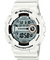 Buy Casio Mens G-Shock Dual Time White Resin Strap Watch online