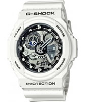 Buy Casio Mens G-Shock World Time White Resin Strap Watch online