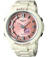 Buy Casio Ladies Baby-G World Time White Resin Strap Combi Watch online