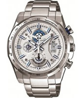 Buy Casio Mens Edifice White and Silver Steel Bracelet Watch online