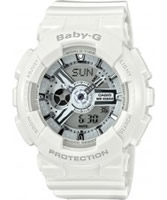 Buy Casio Ladies Baby-G World Time White Resin Strap Watch online