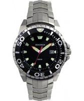 Buy Sekonda Mens Black Steel Watch online