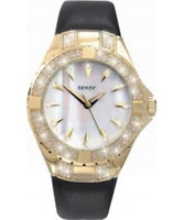 Buy Seksy Ladies Gold White Black Watch online