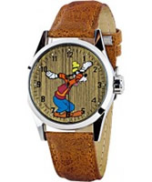 Buy Disney by Ingersoll Mens Goofy Brown Watch online