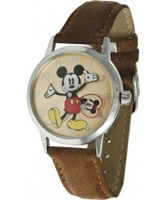 Buy Disney by Ingersoll Ladies Mickey Brown Watch online