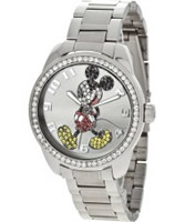 Buy Disney by Ingersoll Ladies Mickey Mouse Silver Watch online