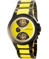 Buy Ed Hardy Mens Speeder Yellow Brown Watch online