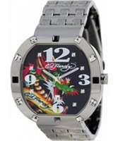Buy Ed Hardy Mens Bandit Multi Steel Watch online