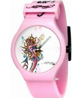 Buy Ed Hardy Ladies Spectrum White Pink Watch online