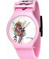 Buy Ed Hardy Ladies Spectrum White Pink Watch online