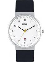 Buy Braun Mens All White Black Watch online