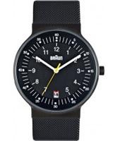 Buy Braun Mens All Black Mesh Watch online