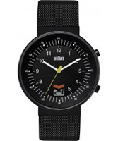 Buy Braun Mens Radio Controlled Black Watch online