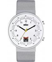 Buy Braun Mens Radio Controlled Black Silver Watch online