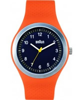 Buy Braun Mens Sports Orange Watch online