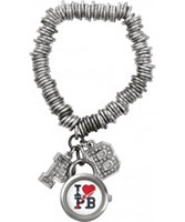 Buy Pauls Boutique Ladies Silver Charm Bracelet Watch online