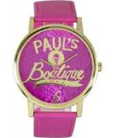 Buy Pauls Boutique Ladies Snake Print Pink Watch online