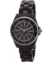 Buy Kahuna Ladies Black Polycarbonate Bracelet Round Stainless Steel Head Casing White Dial With Diamante Watch online