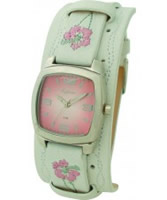 Buy Kahuna Ladies White Leather Cuff Watch online