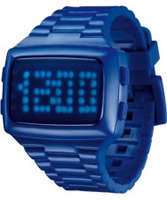 Buy LED Unisex Digital Blue Dial And Pu Strap Watch online