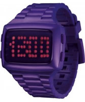 Buy LED Unisex Digital Purple Dial And Pu Strap Watch online