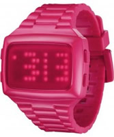 Buy LED Unisex Digital Pink Dial And Pu Strap Watch online