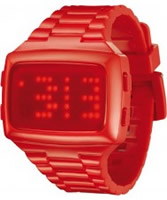 Buy LED Unisex Digital Red Dial And Pu Strap Watch online