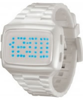 Buy LED Unisex Digital White Dial And Pu Strap Watch online
