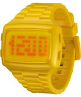 Buy LED Unisex Digital Yellow Dial And Pu Strap Watch online