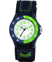 Buy Tikkers Kids Black Velcro Watch online