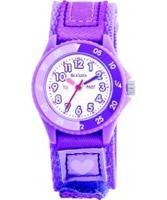 Buy Tikkers Kids Violet Velcro Watch online
