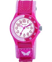 Buy Tikkers Kids Bright Pink Velcro Watch online