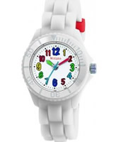 Buy Tikkers Kids White Rubber Watch online
