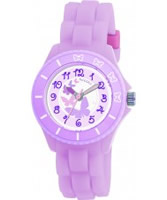 Buy Tikkers Kids Liliac Rubber Watch online